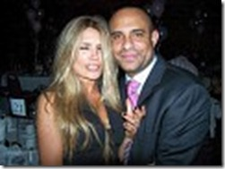 Mr Laurent Lamothe CEO for Global Voice and important NOPIN Partner enjoying the party with his fiancee at Sweet Micky's 2006 New Year Eve Gala